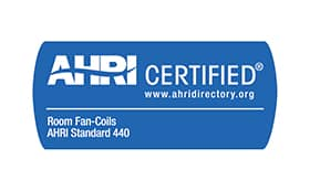 ahri certified room fan coils